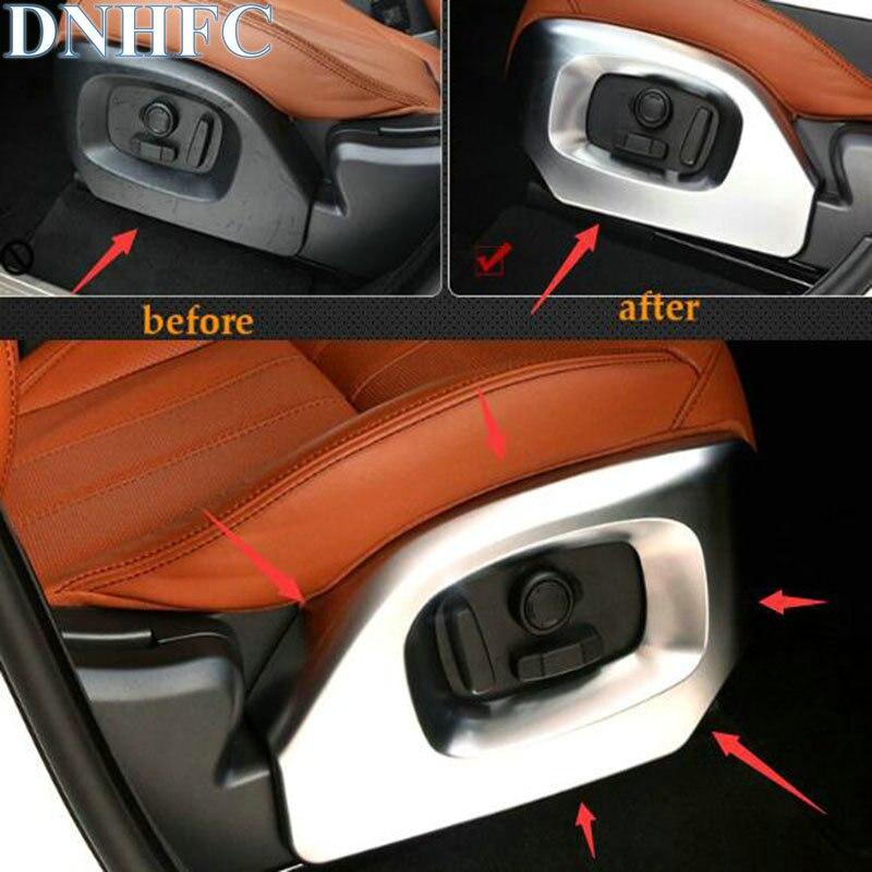 DNHFC 2 uds, interruptor de ajuste de asiento, panel decorativo de lentejuelas para Land Rover Range Rover Sport Vogue 2014-2017