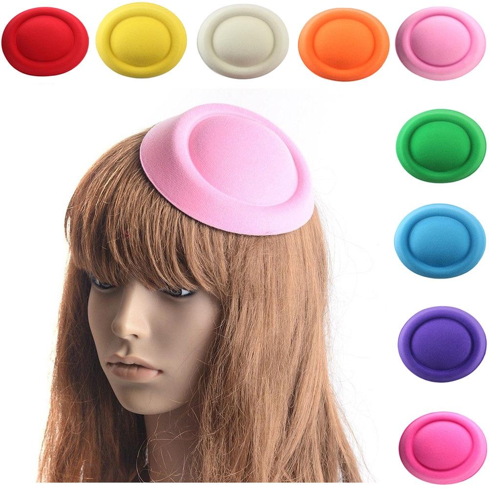 Mini sombrero para mujer, tocado, Base, artesanía, suministros DIY