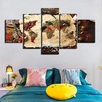 Toile de peinture 5 pieces   Affiches epices grains entiers  decor mural moderne de maison  toile Art HD  images murales imprimees  pour decoration de maison