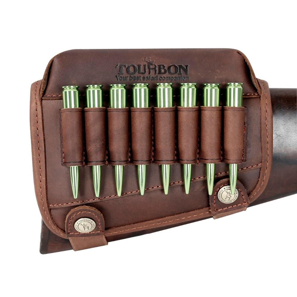 Tourbon винтовочный пистолет Buttstock подставка для щек Riser Pad из натуральной кожи с патронами для патронов. 306,30-08 принадлежности для охотничьего ружья