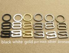 Boucles métalliques limitées de temps   50 ensembles de bretelles de soutien-gorge, anneaux de réglage, crochets de diapositives, sous-vêtement Lingerie invisible, 15mm et 20mm