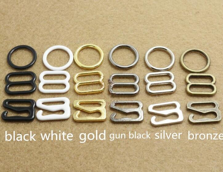 2017 tempo-limitado fivelas de metal 50 conjuntos bra cinta ajuste fivela anéis slides ganchos lingerie invisível 15mm & 20mm