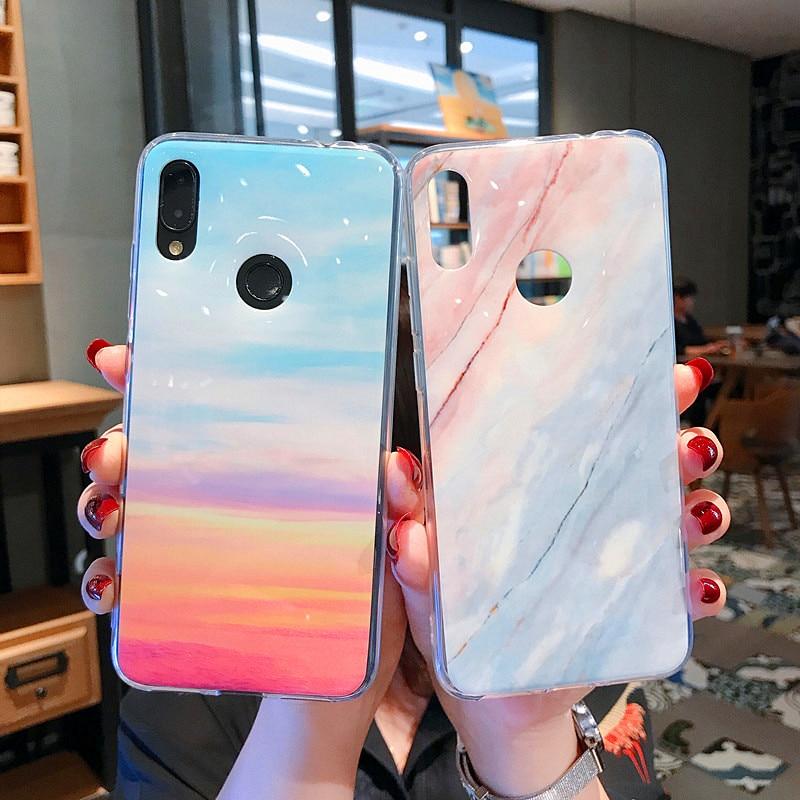CYATO Luxury Marble Case For Xiaomi Mi9 Mi8 Lite Redmi 6 Note7 Note7pro Note6 pro Note5pro Soft TPU Cover Fashion Rainbow Coque