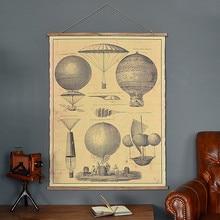 Vintage konopie elżbiety globe ramka na zdjęcia malowanie tkanin obrazy muony dekoracje ścienne malowidła