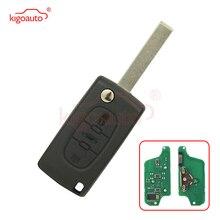 CE0523 Flip remote key 3 taste HU83 434Mhz pcf7941 FRAGEN für Citroen C2 C3 C5 kigoauto