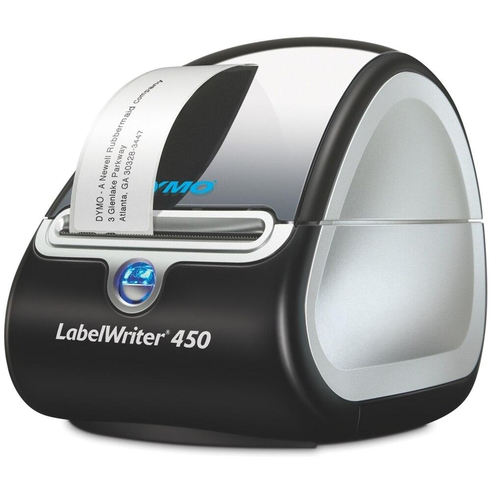 Original marca nova dymo labelwriter 450 direto etiqueta térmica código de barras impressora monocromática 300*600 dpi
