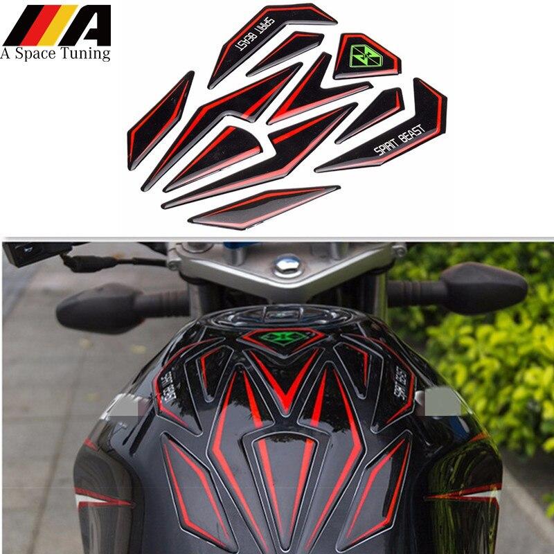 3d adesivo da motocicleta moto tanque de combustível gás protetor almofada capa decoração decalque para honda yamaha suzuki ktm kawasaki bmw
