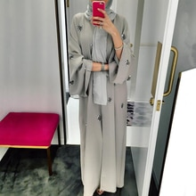 Abaya Femme Kimono Caftan Robe dubaï Islam musulman Hijab Robe Abayas Caftan Marocain Qatar Oman turquie Elbise Ramadan vêtements