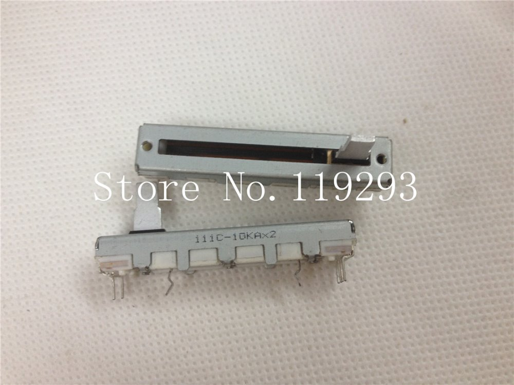 [SA]ALPS 4,5 см 45 мм 10KAX2 20KAX2 скользящие потенциометры двойные A10KX2 A20KX2 10 мм вал-10 шт./лот