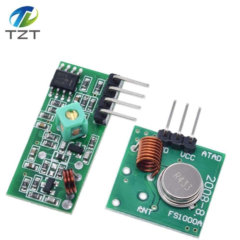 Беспроводной радиочастотный модуль передатчика 433 МГц и комплект приемника 5 в постоянного тока 433 МГц для Arduino Raspberry Pi /ARM/MCU WL Diy Kit