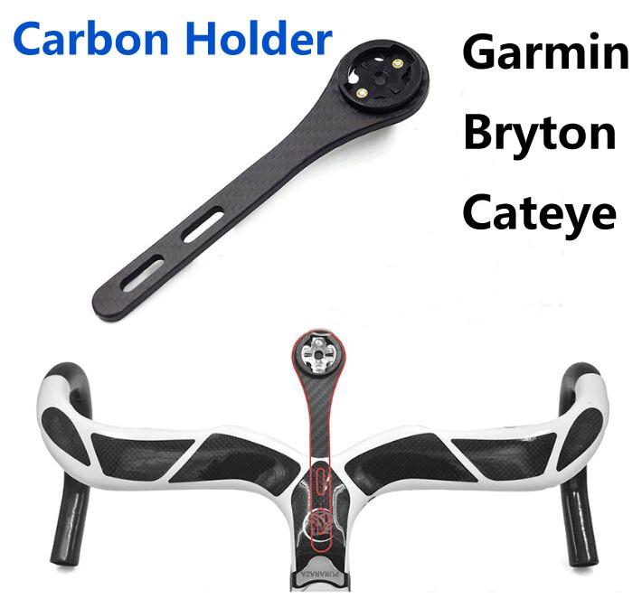 Carbon Holder for Garmin Bryton Cateye Mount Bike Computer Road MTB Bicycle Edge 200 130 520 820 Rider 310 410 530 Cycling parts