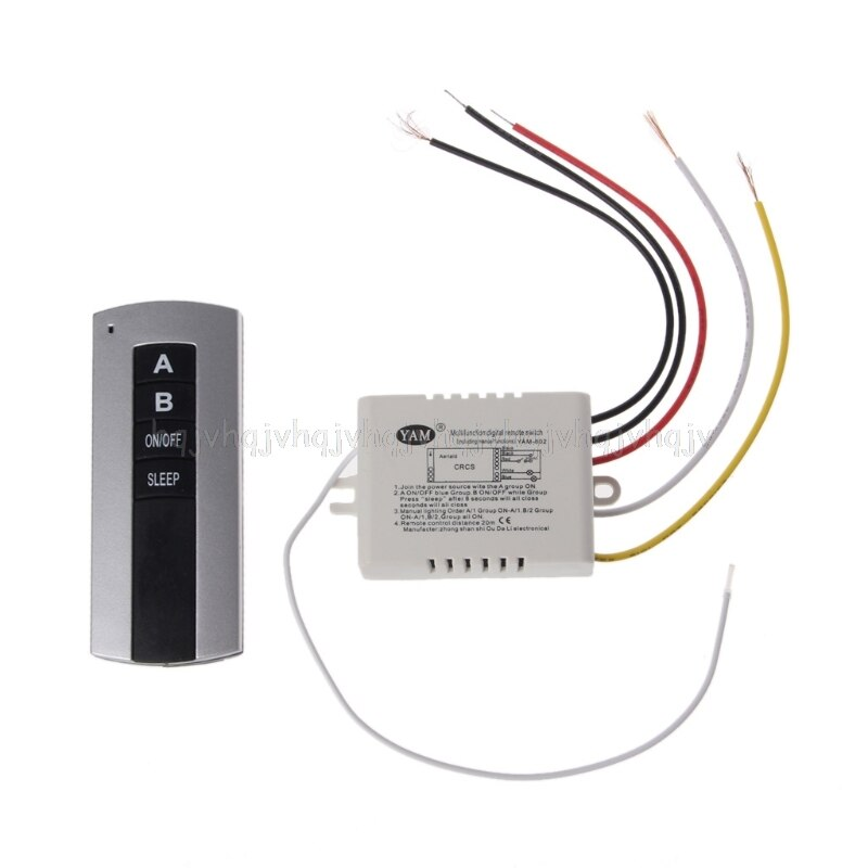 Беспроводной 2-канальный вкл/выкл лампа пульт дистанционного управления переключатель приемник передатчик JUL04