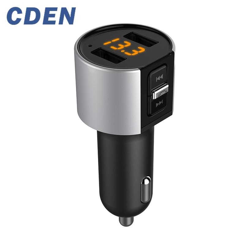 Reproductor MP3 inalámbrico de transmisor FM con Bluetooth, modulador FM, adaptador de Radio estéreo para coche, Kit de coche, llamadas con manos libres, Dual USB