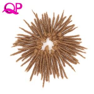 qp hair8 inch Handmade High Tempe Dreadlocks Men Dreadlocks Crochet Hair Extensions 6 inch Crochet Braiding Hair Pure Color