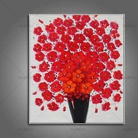 free shipping modern abstract flowers knife oil painting handpainted canvas painting chirstmas gift decor for wedding decoration