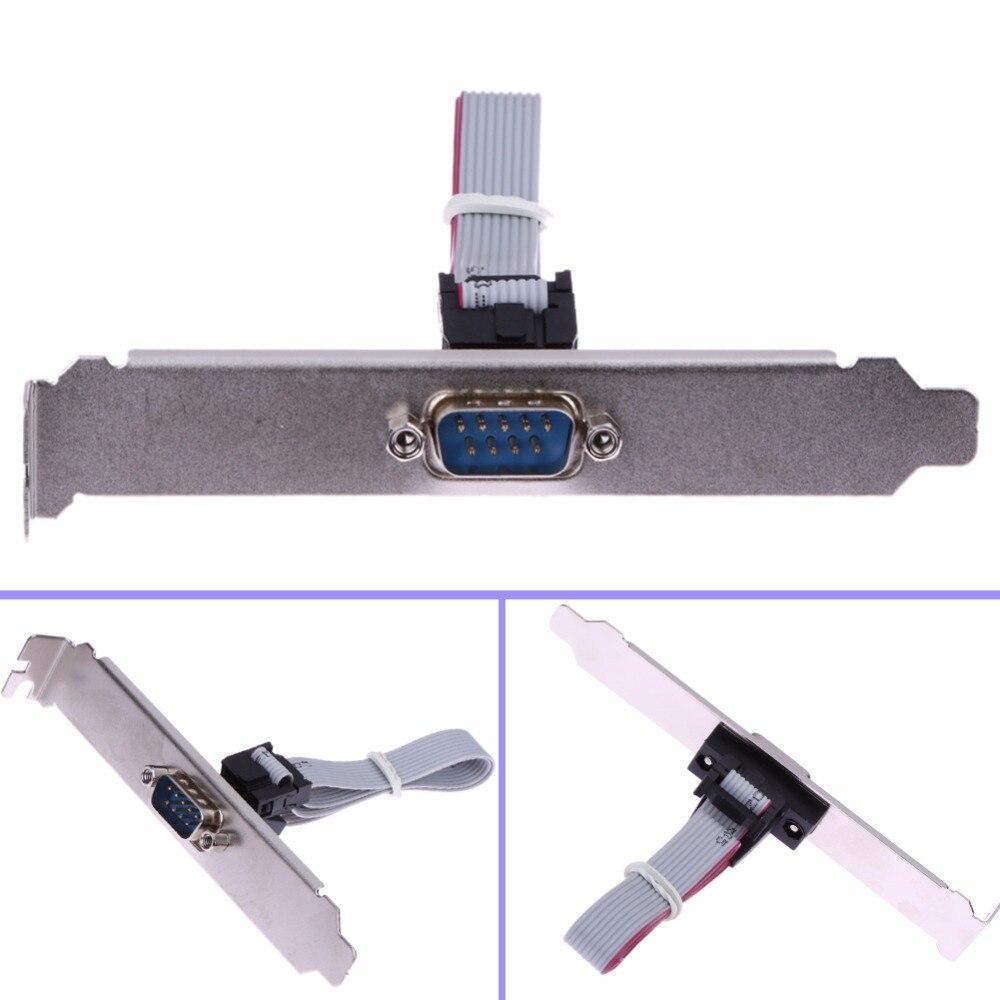 Conector de Cable de puerto Com 27,5 cm placa base duradera 9 pines hembra a RS232 DB9 Pin cinta Serial Bracket