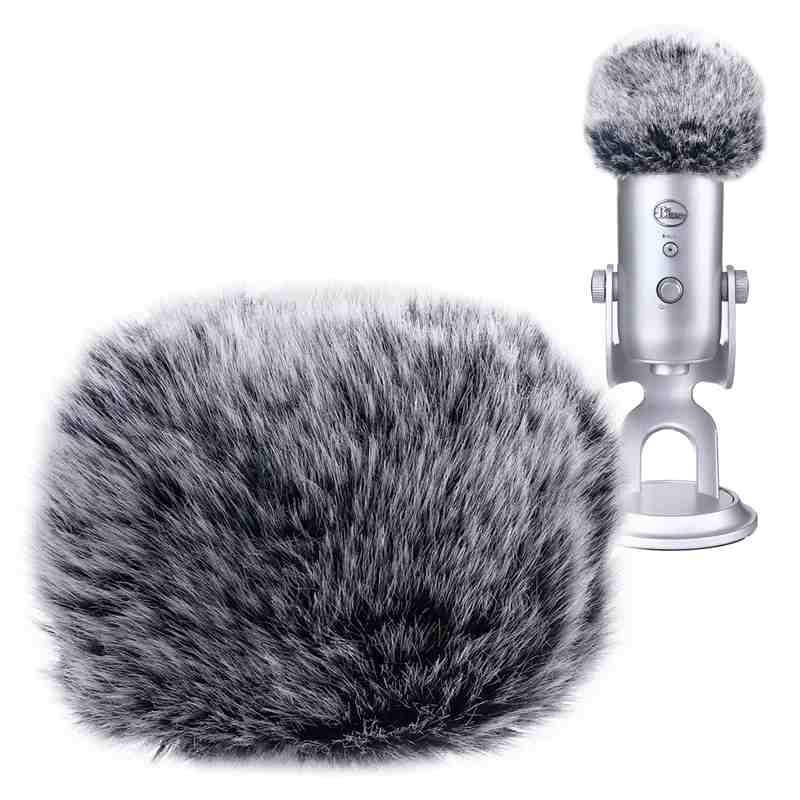Pára-brisas de microfone de espuma para azul yeti, microfones de condensador yeti pro-como um filtro pop para os microfones