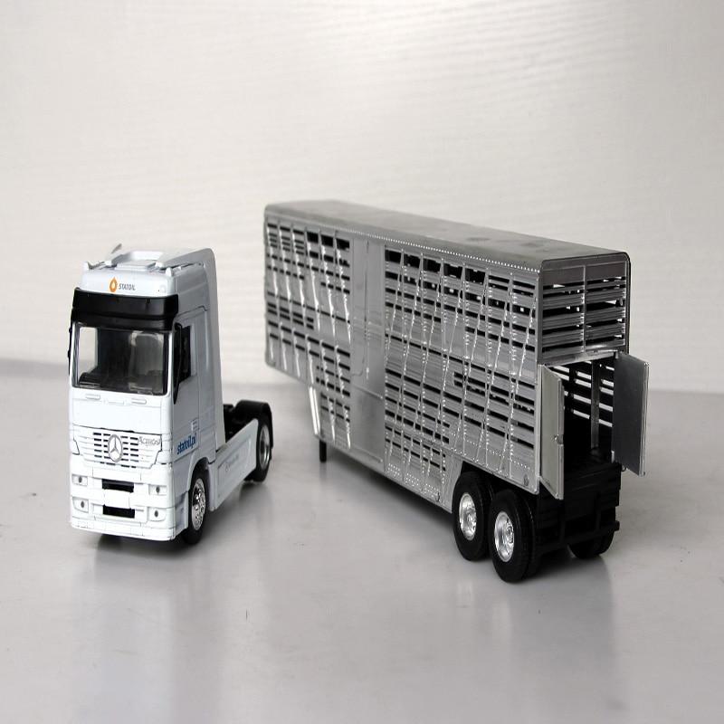 Simulación de 1/43, suministros para recolección de ganado Mercedes, modelo clásico, cabezal de camión fundido a presión de aleación, regalo de cumpleaños