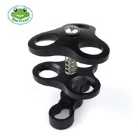 seafrogs triple ball clamp diving camera bracket aluminum spring flashlight clamp for diving underwater photography system
