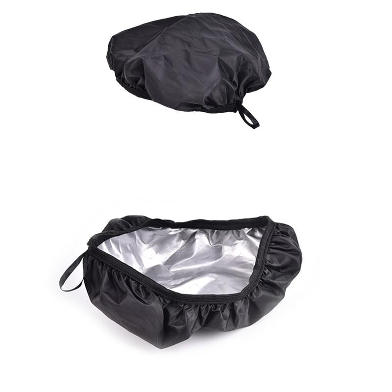 Sillines de bicicleta de protección cubiertas de asiento de la bici impermeable Paquete de bolsa para tubo delantero silla Pannier trasera cubierta de la lluvia