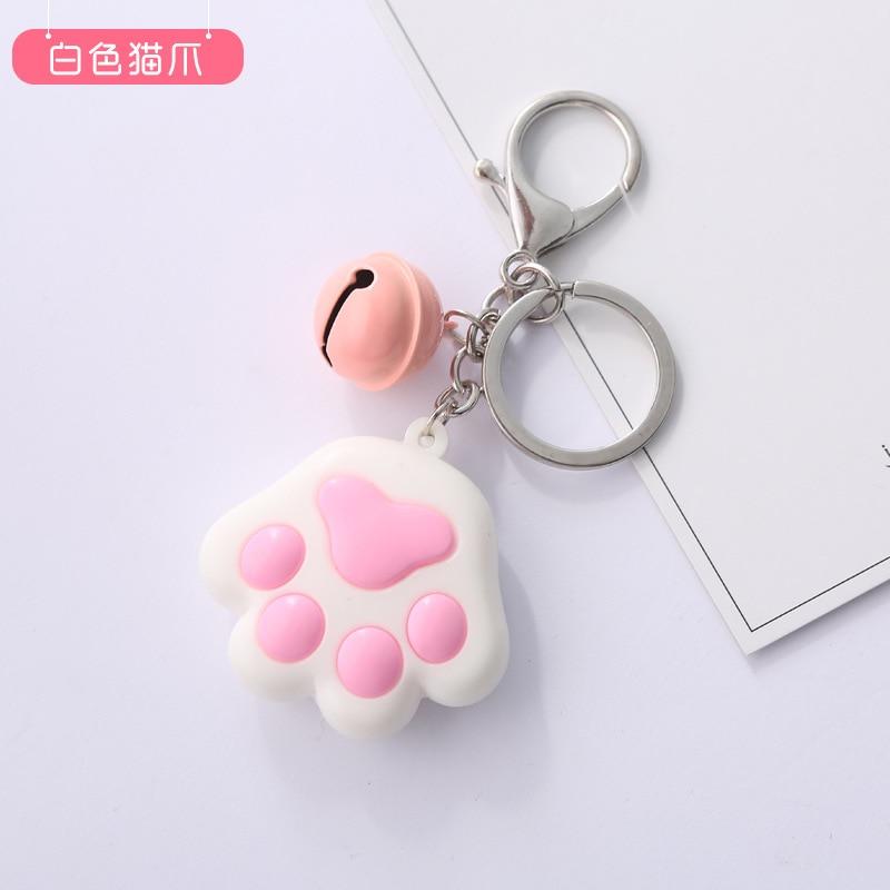 Популярные женские Брелки, оригинальные трехмерные брелки-коготь в виде кошки, мягкая резиновая сумка-колокольчик, подвесное кольцо для ключей в подарок
