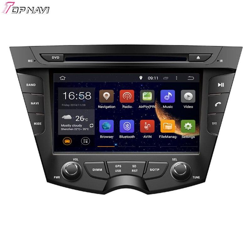 Topnavi 7 Octa Core 4GB RAM Android 6,0 coche Radio Estéreo GPS para HYUNDAI i 30 2011 reproductor de DVD-Audio