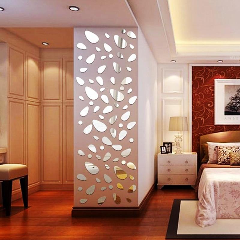 12 unids/set 3D Diy pegatina de pared decoración de espejo pegatinas de pared para fondo de Tv decoración del hogar Decoración acrílica moderna arte de pared