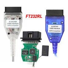 Новый чип FT232RL INPA K + CAN Ediabas K DCAN, интерфейс для BMW серии 1998 2008 с переключателем K DCAN, USB кабель, зеленая печатная плата