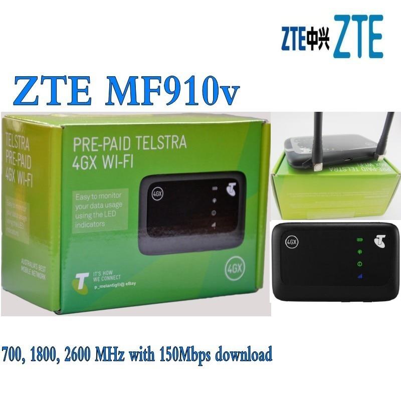 Lote de 10 Uds. De enrutador de módem móvil desbloqueado ZTE Hotspot MF 910v 150Mbps Pocket 4G LTE plus Antena 2 uds