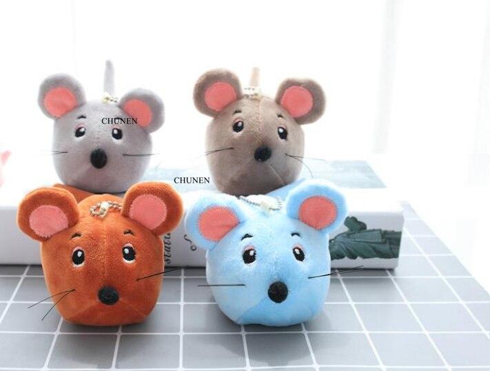 Mini lindo 4-9CM aprox., Mini ratones de juguete encantadores, selección de colores, peluche de peluche, llavero