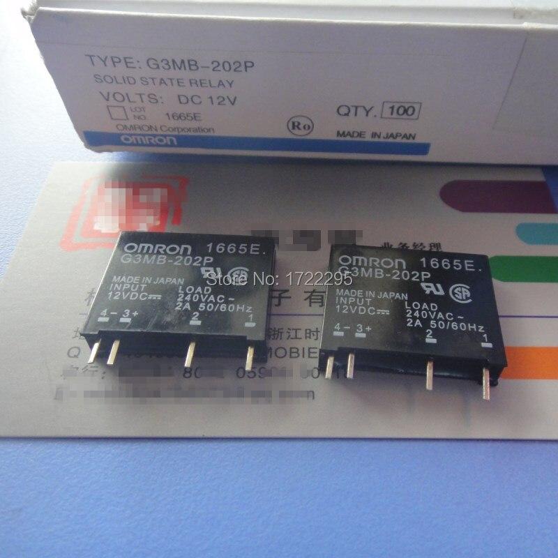 Envío Gratis 5 piezas nuevo relé de estado sólido Original G3MB-202P 12 V DC-AC PCB SSR en 12VDC, 240 V AC 2A