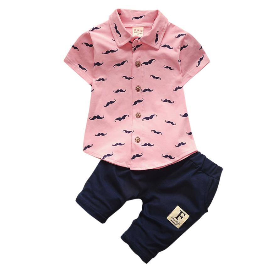 2020 Детская футболка с бородой для маленьких мальчиков Топ + шорты, штаны, комплект одежды, удобная и дышащая 5,22