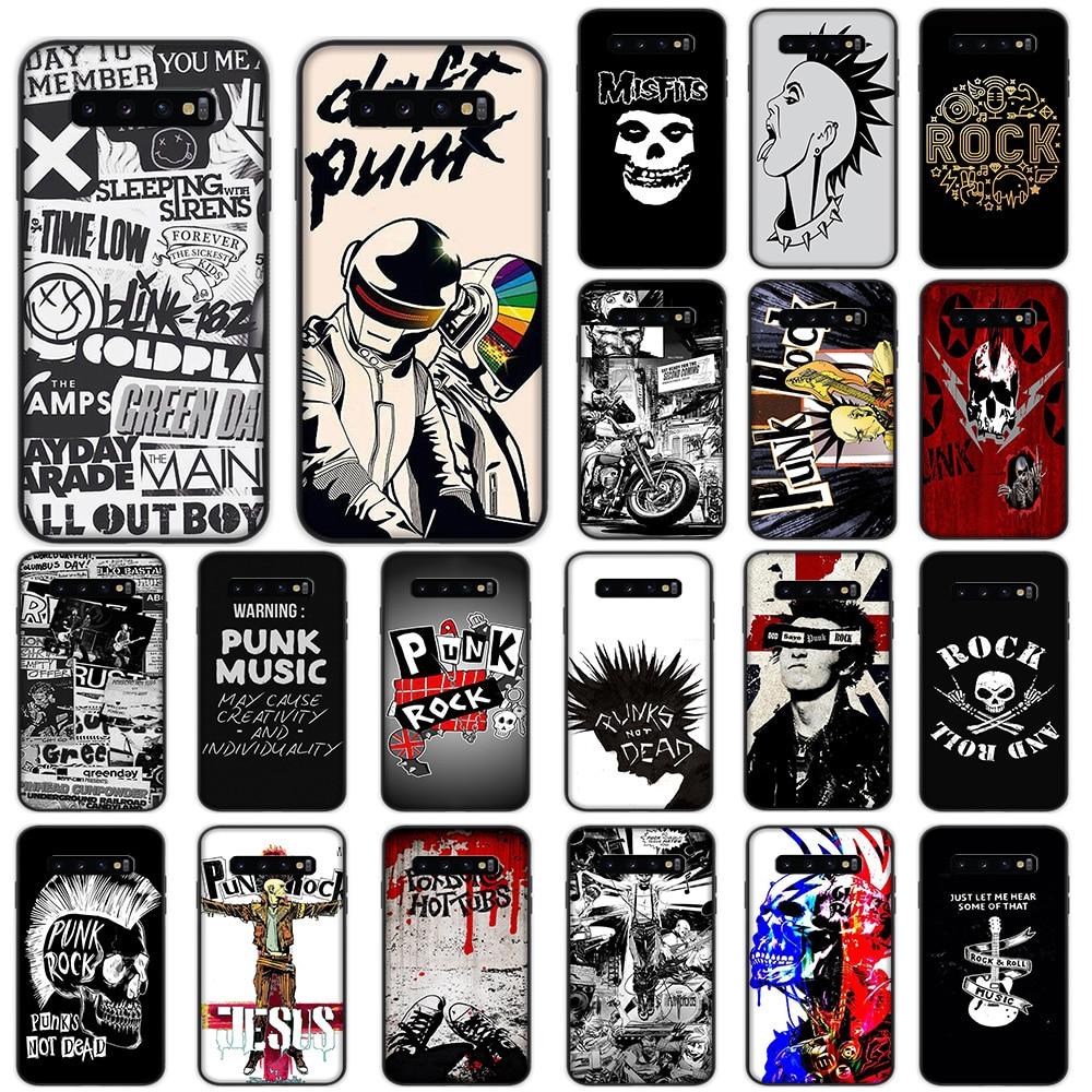 Мягкий чехол в стиле панк-рок для Samsung Galaxy S10 Plus S10e S7 S6 Edge S8 S9 Plus J6, чехол