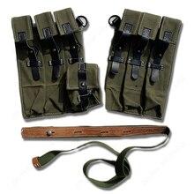 Ww2 segunda guerra mundial amy p38/p40 revista bolsa de munição bolsa de couro lona de/107106