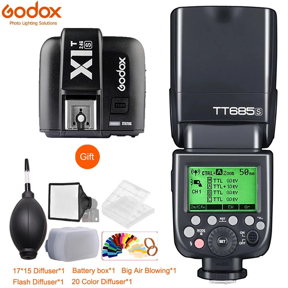 Godox – Flash TT685C TT685N TT685S TT685F TT685O 1/8000s TTL Speedlite X1T, déclencheur pour Canon Nikon Sony Fuji Olympus