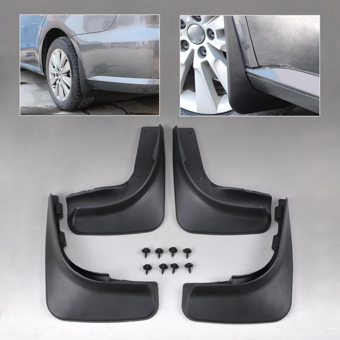 CITALL Black 4Pcs Mud Flap Splash Guards Mudguard ABS Plastic Mudflaps For VW Golf 6 MK6 Hatchback 2009 2010 2011 2012