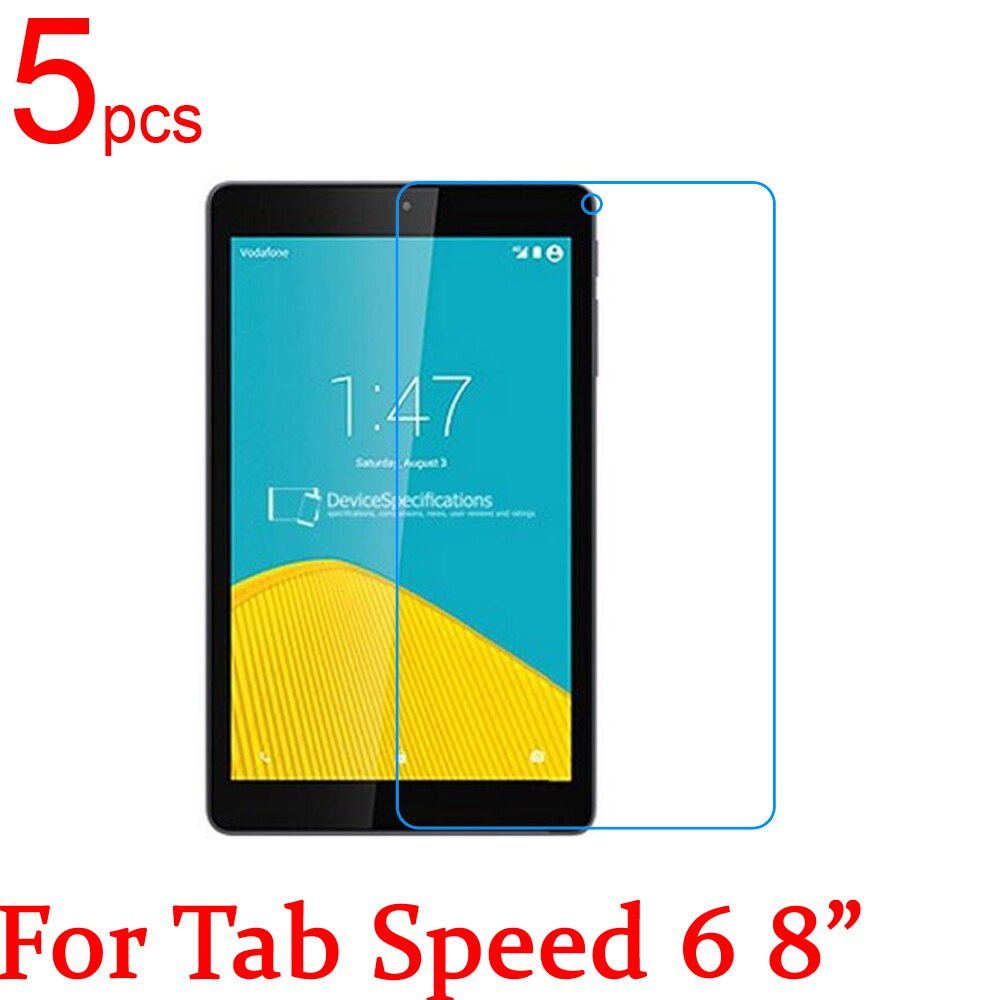 "5 pcs ultra clear/matte/nano anti-explosiono lcd protetores de tela de cinema capa para vodafone smart tab 4 tab velocidade 6 8 ""filme + pano"