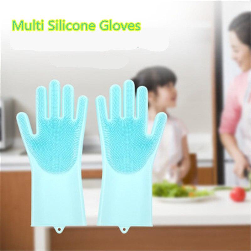1 esponja mágica de silicona, guantes de limpieza de goma, limpieza de polvo, lavado de platos, cuidado de mascotas, cuidado del cabello, coche, ayudante de cocina aislado