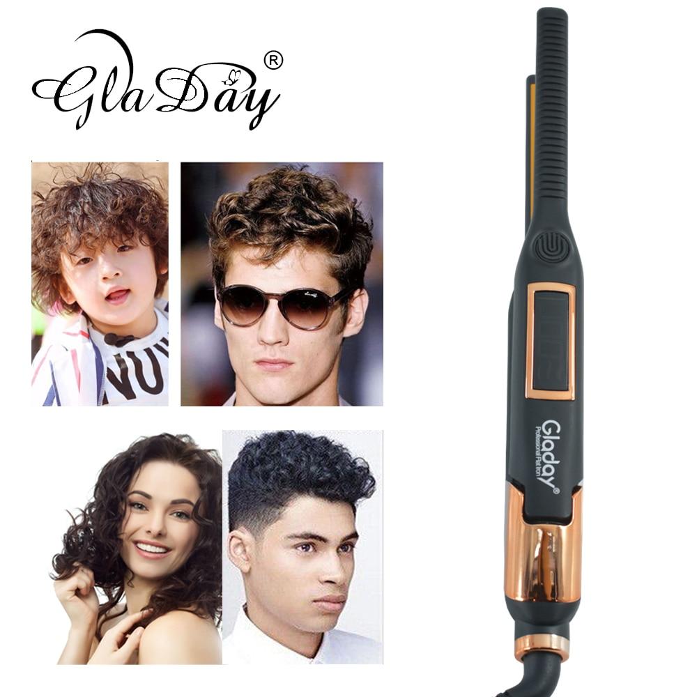 Alisador de pelo profesional rizador de pelo de hierro plano alisamiento de pelo rizador de hierro pantalla LCD