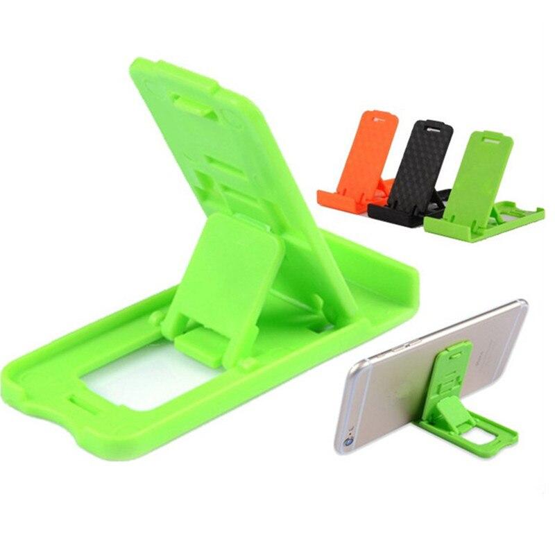 Soporte de teléfono móvil Universal de 1 pieza, soporte de teléfono plegable ajustable portátil colorido para iPhone para Samsung para todos los teléfonos inteligentes