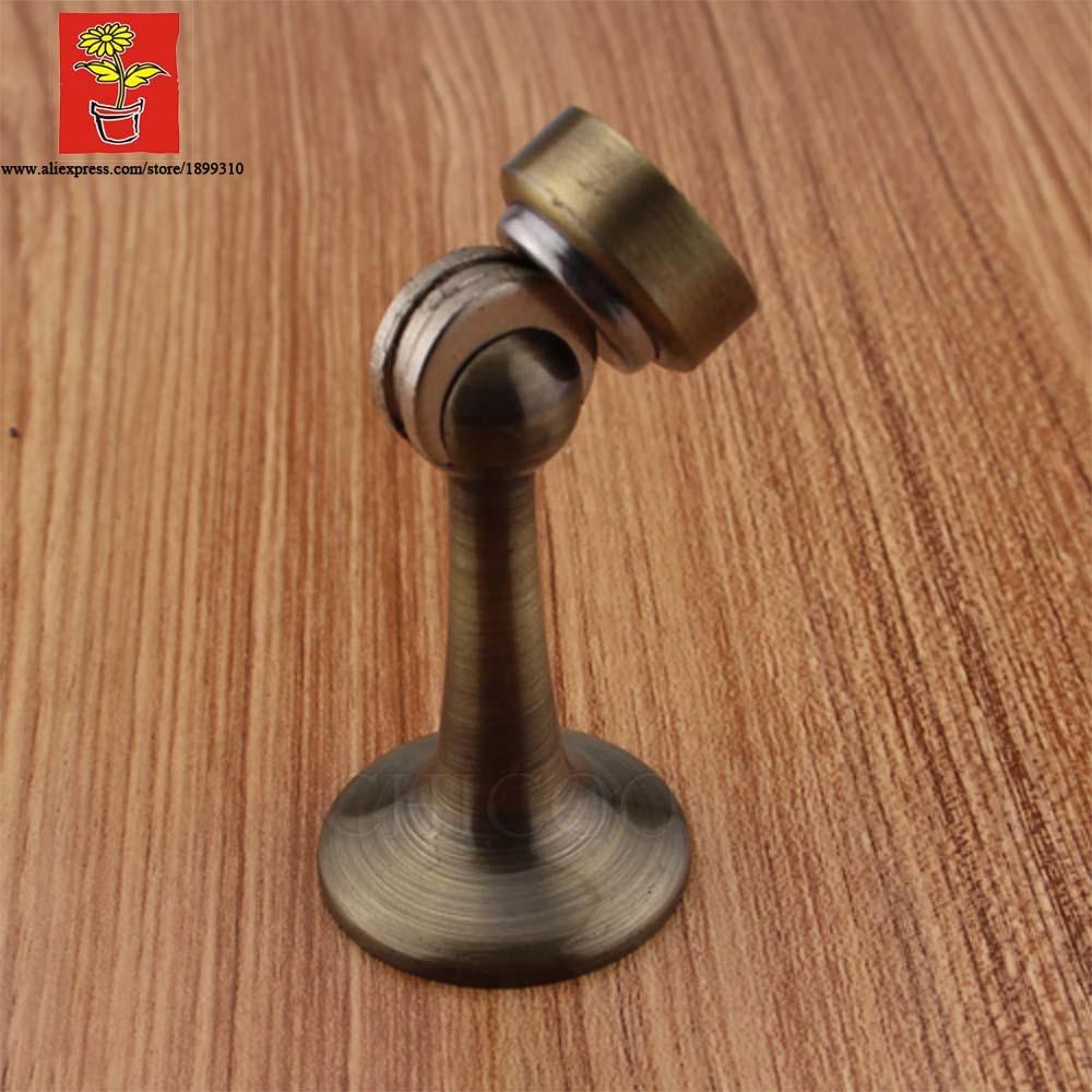 Latón antiguo latón industrial Cierre magnético puerta Tope de puerta por pared Tope de puerta magnético