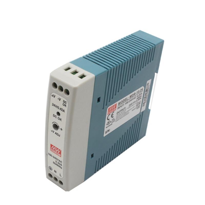 MDR-20 20W de salida única de 5V 12V 15V 24V Din carril de conmutación fuente de alimentación AC/DC
