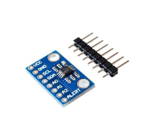 Sensor de temperatura de alta precisão mcp9808 i2c breakout board módulo 2.7 v-5 v tensão lógica para ardunio em estoque