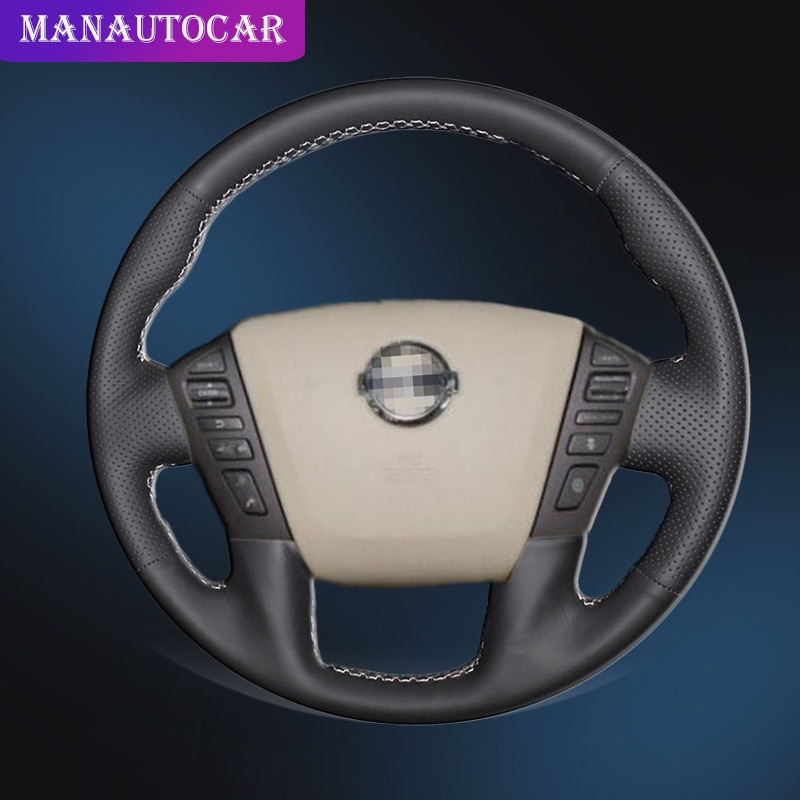 Coche trenza en la cubierta de volante para Nissan patrulla Armada NV carga NV pasajero (NOS) Titan Infiniti QX56 QX80 Auto cubre