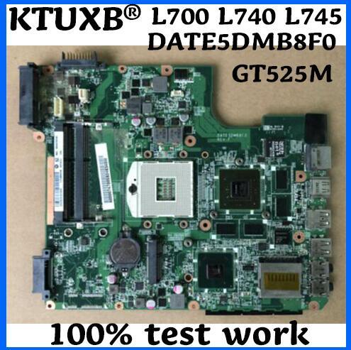 KTUXB DATE5DMB8F0 A000074700 para Toshiba L700 L740 L745 portátil placa base PGA989 HM65 GT525M prueba 100% trabajo