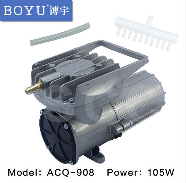 DC 12V 150L/min 105W imán permanente DC diafragma compresor de aire bomba de oxígeno tanque de peces estanque acuario aireador bomba de aire de presión
