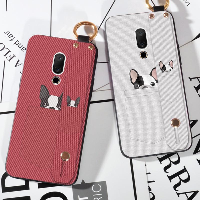 Soft TPU Strap Phone Case For Meizu V8 Pro X8 M8 Mote Cute Pocket Dog Back Cover For Meizu 15 16 th Plus 16X M15 15 Lite