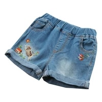 new summer girls shorts baby girl cotton elastic shorts embroidered cartoon girl shorts kids european and american style 3 10t
