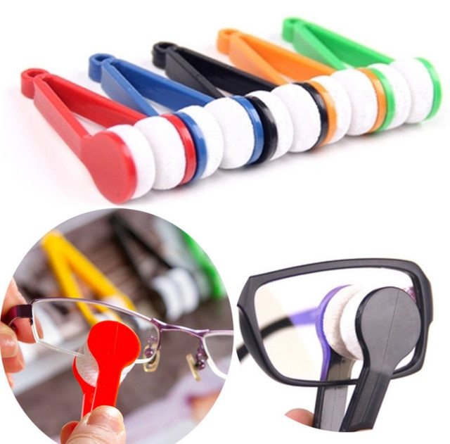 Portable Multifunctional Glasses Cleaning Rub Eyeglass Sunglasses Spectacles Microfiber Cleaner Brus
