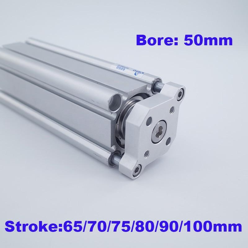 Cilindro neumático de Tipo SMC CQMB/CDQMB diámetro 50mm carrera 65/70/75/80/85/90/95/100mm guía compacta cilindro de actuador de aire
